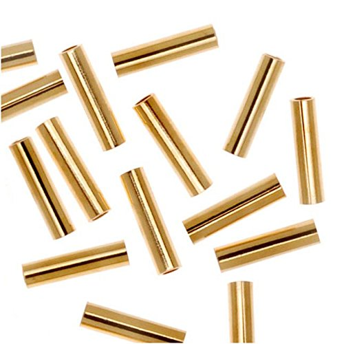 22K Gold Plated Liquid Tube Beads 6mm x 1.5mm (50) ()