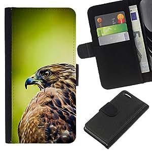 KingStore / Leather Etui en cuir / Apple Iphone 5C / Plumes de Nature Oiseau Prey