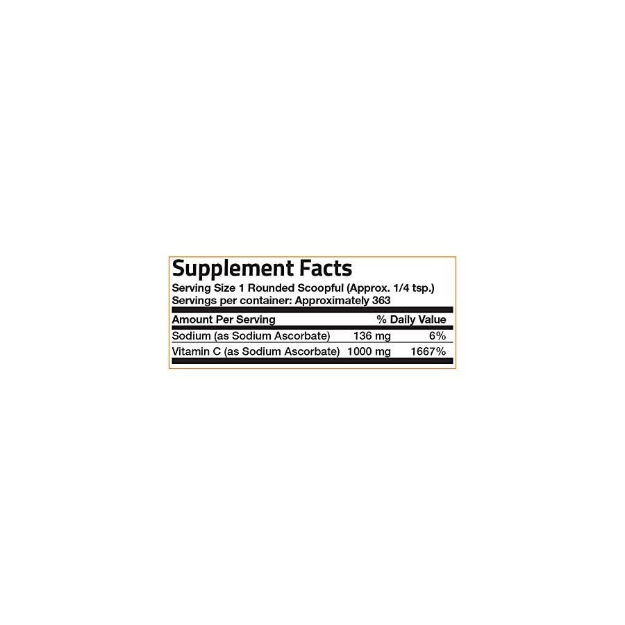 Bronson Labs: Vitamin C Crystals 1000 mg (Non Acidic Sodium Ascorbate) Made In USA