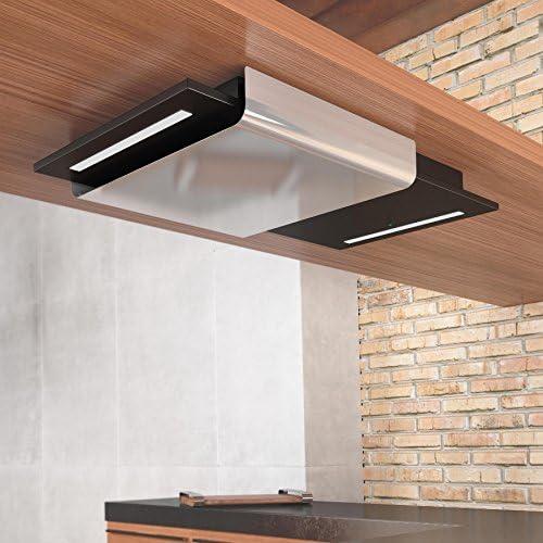 Esto Fascia 90 x 50 cm acero inoxidable y negro pintado acero mando a distancia techo Extractor (2 años de garantía del fabricante): Amazon.es: Grandes electrodomésticos