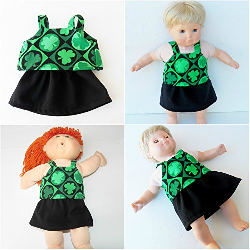 Cabbage Patch KIDS 16 inch doll clothes Shamrock top and skirt handmade by adorabledolldesigns -