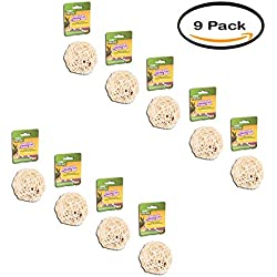 PACK OF 9 - Wild Harvest Chew Ball for Guinea Pigs, Hamsters, Gerbils and Other Small Animals