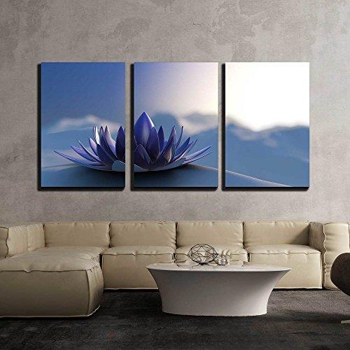 Winter Zen Flower x3 Panels