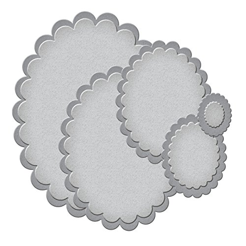 Spellbinders S4-113 Nestabilities Small Classic Scalloped Ovals Etched/Wafer Thin Dies by Spellbinders