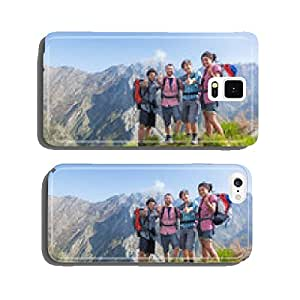 Happy Hikers at Top of Mountain cell phone cover case iPhone6