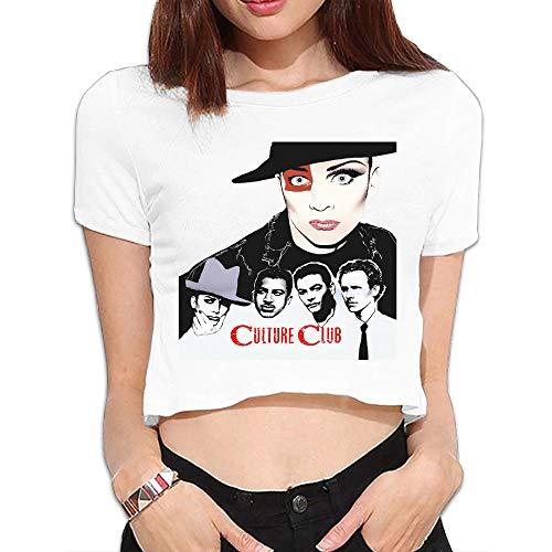 SeanDouglas Womens Culture Club Youth Girls Tops Short Sleeve Tshirts Sports Blouse Dew Navel M