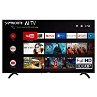 SKYWORTH E20300 40″ INCH 1080P LED A53 Quad-CORE Android TV Smart 40E20300 with Voice Control Smart Remote, 1mm Thin Bezel, and Android Operating System