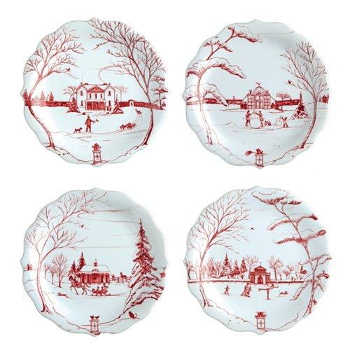 Juliska Country Estate Party Plates Ruby Set