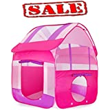 Kiddey Kids Play Tent, Great Playhouse Tent for Indoor/Outdoor, Pops Up No Assembly Required, With Convenient Carry Case for Easy Storage and Travel, Promotes Creativity, Imagination, Early Learning
