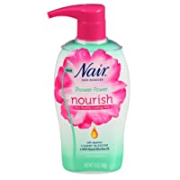 Nair Shower Power Nourish Japanese Cherry Blossom with sponge, 13 Ounce