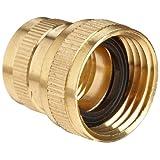 Anderson Metals Brass Garden Hose Fitting, Swivel, 3/4