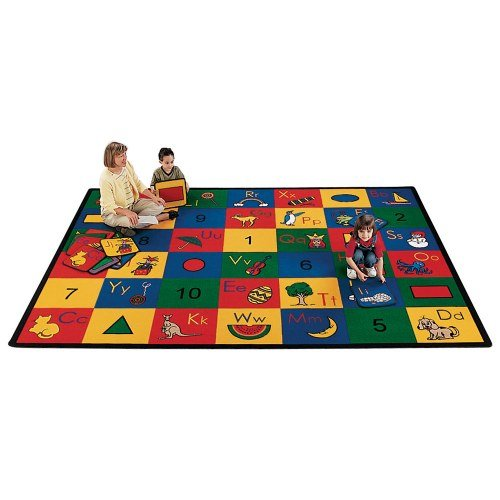 Carpets for Kids 1300 Blocks of Fun Rug x Rectangle x, 5'10 x 8'4, (Kids Abc Phonic Squares)