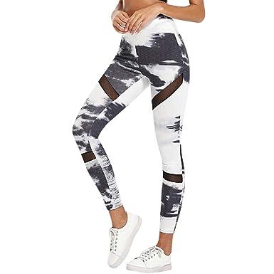 Mujer Pantalones, Pantalones de Yoga elásticos Impresión ...