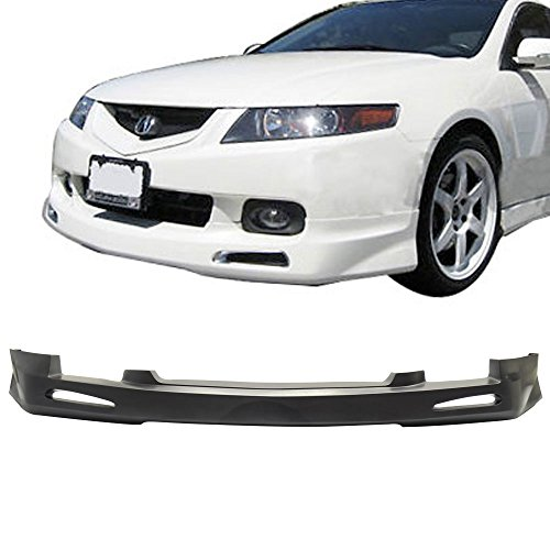 04-05 Acura TSX Type-1 Urethane Add-On Front Bumper Lip Spoiler Bodykit
