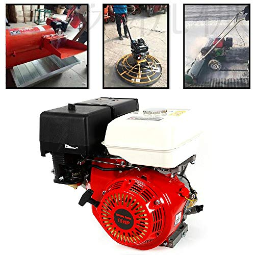 4 Stroke Engine Petrol Engine YUNRUX 190 F 25 mm Floor Engine Construction Machine Heavy Duty Engine OHV Single Cylinder Carton Engine 15 HP Pump Engine Generators Gas Engine Petrol Engine: Amazon.co.uk: DIY & Tools