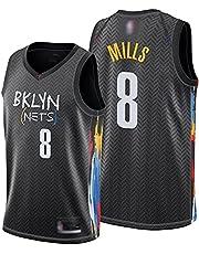 Patty Mills Men's Basketball Jersey, Brooklyn Nets #8 Jersey Sportswear Unisex Sleeveless Embroidered Vest Shirt Sports Top S-2xl