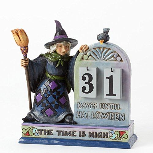 Jim Shore for Enesco Heartwood Creek Halloween Count Down Calendar, 6.5-Inch
