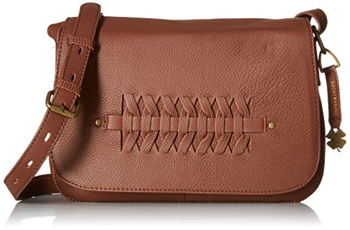 Lucky Brand Kingston Flap Xbody, Brandy (Body Bag Brand Leather Flap Cross Lucky)