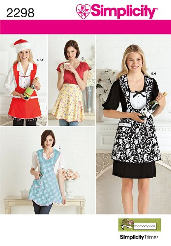 Misses Aprons Pattern (Simplicity Sewing Pattern 2298 Misses' Aprons, A (S-M-L))