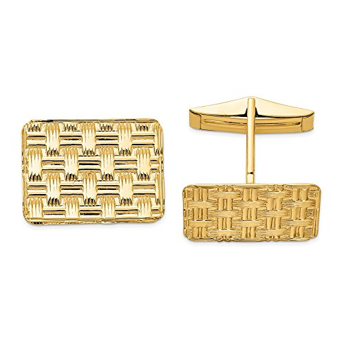 Mia Diamonds 14k Solid Yellow Gold Cuff Links