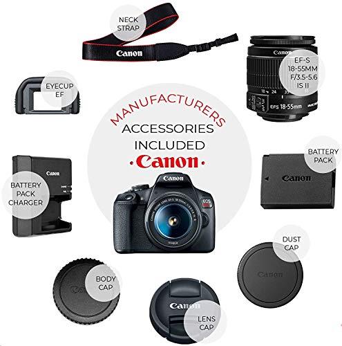 Canon EOS Rebel T7 DSLR Camera + EF-S 18-55mm f/3.5-5.6 is II + EF 75-300mm f/4-5.6 III Lens + Case + 2X 64GB Memory…