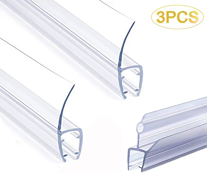 Frameless Shower Door Seal Strip Weather Stripping Seal Sweep With Drip Rail For 3 8 Inch Glass 39 Length J 2pcs X 39 Length H Type 3 8 Glass Amazon Com