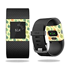 Skin Decal Wrap for Fitbit Surge cover skins sticker watch Maze Leaves