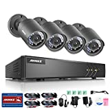 ANNKE 720P Security DVR Recorder and (4) 1280tvl 1.0MegaPixels Surveillance Cameras with IP66 Weatherproof, NO HDD For Sale
