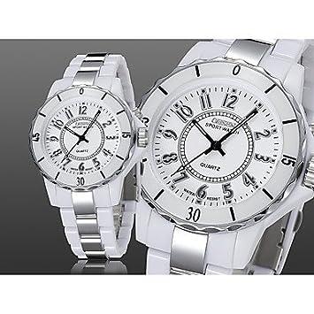 Relojes Hermosos, OHSEN Mujer Pareja Reloj de Vestir Reloj de Moda Reloj Casual Chino Cuarzo