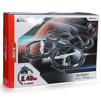 UDI U818A - RC OVNI con cámara, 3D quadrocóptero - Drón 2.4 GHz ...