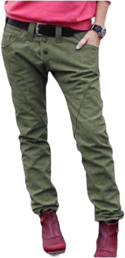 YAXINHE Women's Mid Waist Casual Straight Pocket Fall Winter Jeans