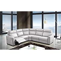 Creative Furniture Trevor Sectional with Power Recliners, Gray