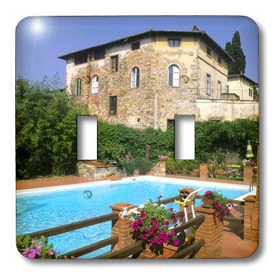 3dRose LLC lsp_86932_2 Italy, Tuscany, Chianti, Hotel Greve Villa Vineyard Sa16 Bba0021 Bill Bachmann Double Toggle Switch
