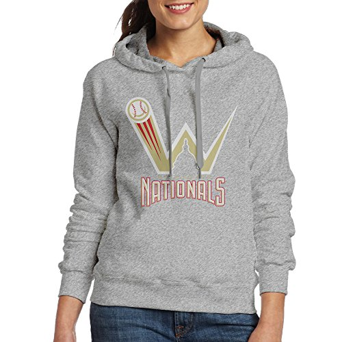 DETO Women's Washington Team Sweater Ash Size (Seattle Mariners Womens Hoody Sweatshirt)