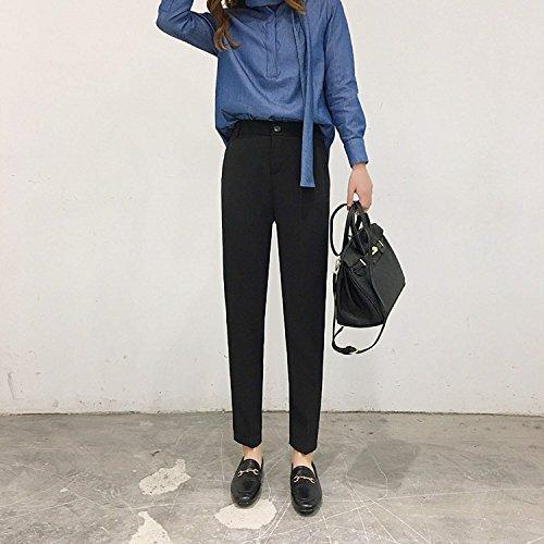 Taille Femme Harem Loisir Automne Haute Slim Des Élégant Unie Avec Fit Poches Mignon Chic Printemps Casual Pantalon Jogging Mode Couleur Noir 70wqF1Fd
