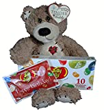 Birthday Gift Set For Kids - 3 Piece Plush Teddy Bear and Jelly Belly Happy Birthday Assortment - Birthday Gift Basket - Birthday Gifts For Him / Her