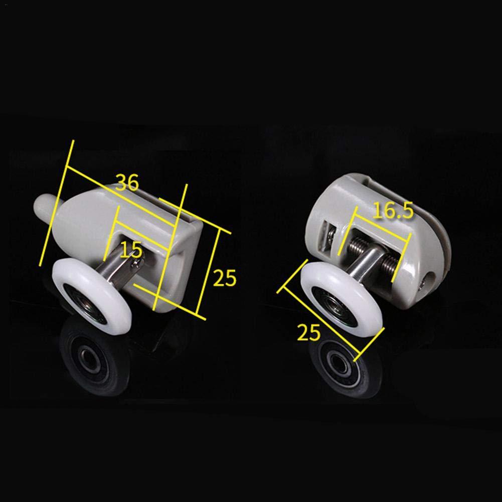 miss-an Rollen F/ür Duschkabinent/ür 4pcs Duscht/ürrollen,R/äder 25mm Durchmesser Badezimmer Ersatzteile