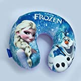 XM Home Fashion-Floral Style,Polyester Cover the Memory Foam Travel Neck Pillow Frozen Anna and Elsa 1 Set U-Shape