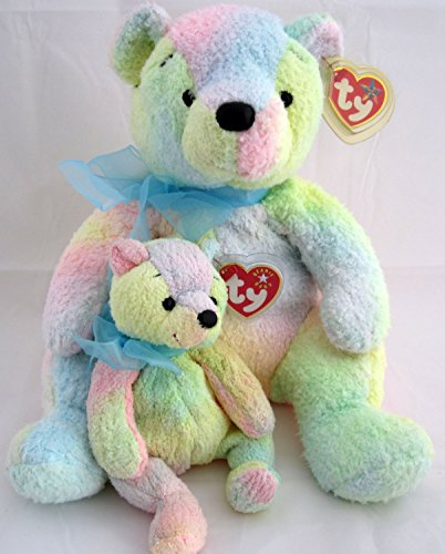 - Ty Beanie Buddy & Baby Bear Set - Mellow Pot Belly Teddy