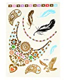 Day Dreams Premium Shimmer Jewelry Flash Tattoos 12 Sheets (80+ Tattoos)
