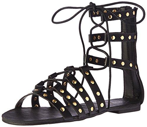 Topline Women's Allycat Gladiator Sandal, Black, 7.5 M US