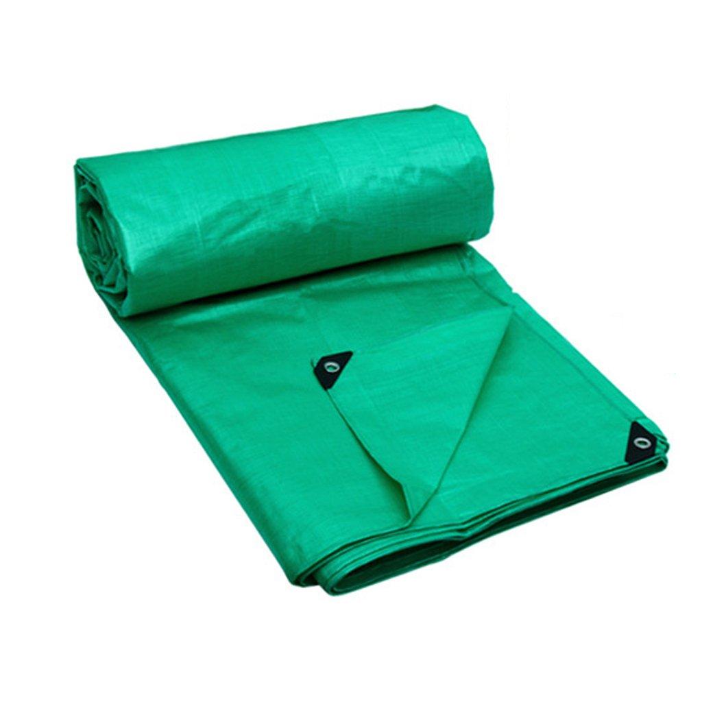WSGZH Grüne Plane Polyethylen Poncho Wasserdichte Sonnencreme Visier Dampflok Markise Canvas Dicke 0,32 MM 180 G   M2 7 Größenoptionen