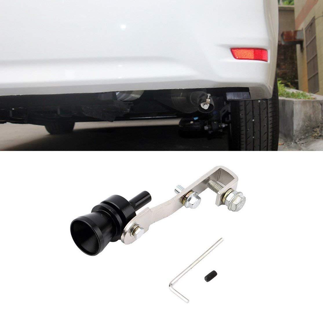 Color:Silver Kaemma Alluminio Universale Auto Auto BOV Turbo Suono Fischietto Tubo Suono simulatore Tubo Tubo di Scarico marmitta Tubo