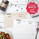 """321Done 4"""" x 6"""" Recipe Cards (Set of 50) - Thick"""