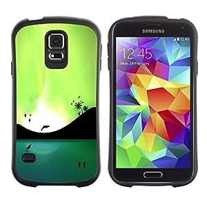 Suave TPU GEL Carcasa Funda Silicona Blando Estuche Caso de protección (para) Samsung Galaxy S5 / CECELL Phone case / / Blue Lagoon Dolphins & Birds /