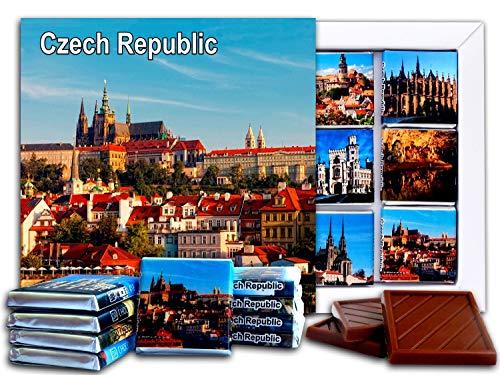 DA CHOCOLATE Candy Souvenir CZECH REPUBLIC Chocolate Gift Set 5x5in 1 box (Prague Prime 2)