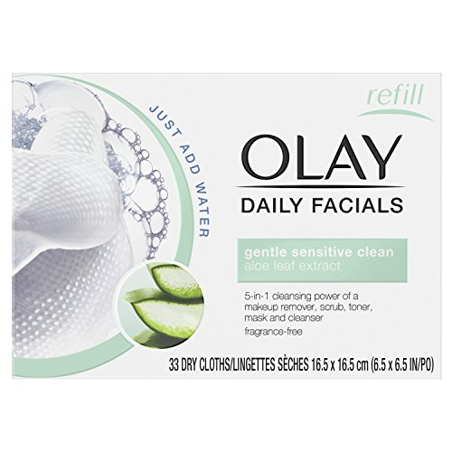 Olay Daily Cleansing Cloths, 33 Ea (Pack of (Olay Daily Cleanser)