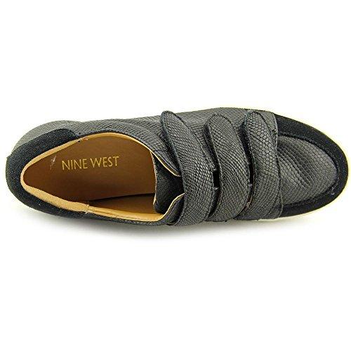 Nine West Kvinners Hidrate Reptil Mote Sneaker Svart / Svart