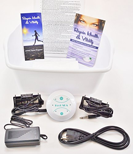 DETOX FOOT SPA Cleanse Ionic detox foot spa chi Unit for Home Use. Super Duty Version With 2 Super Duty Long Lasting Powerful Arrays - A $60.00 Value - Detox Foot Spa Machine by Better Health Company
