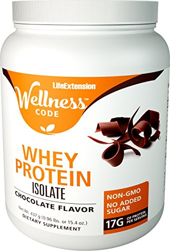Life Extension Wellness Code Whey Protein Isolate, Chocolate, 437 Gram